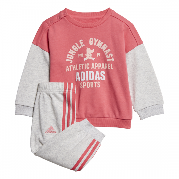 ADIDAS INFANTS GIRLS CLOTHING GRAPHIC TERRY JOGGER SET ED1171