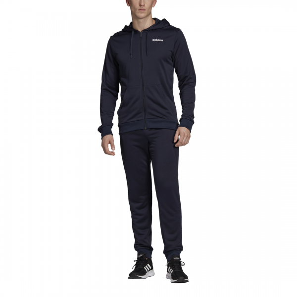 ADIDAS MEN CLOTHING HOODED LINEAR FT TRACKSUIT DV2450