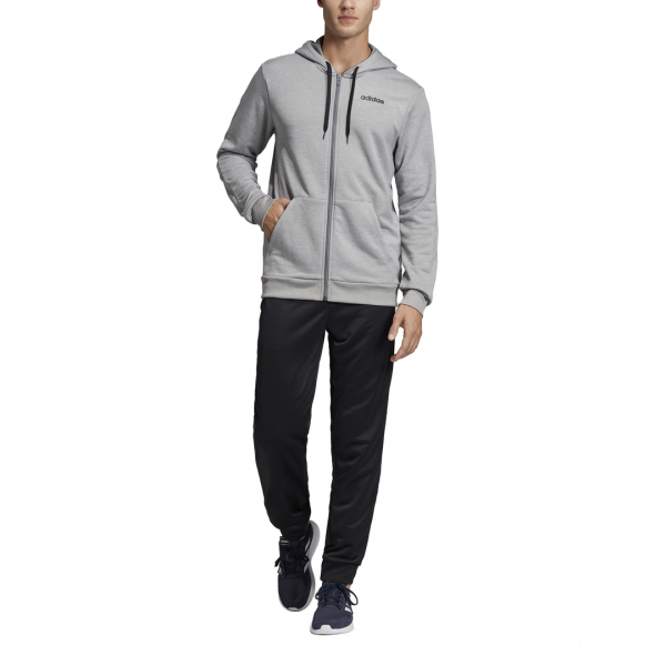 ADIDAS MEN CLOTHING LINEAR HOODED FRENCH TERRY TRACKSUIT EI5558