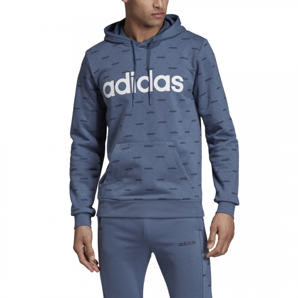 ADIDAS MEN CLOTHING LINEAR GRAPHIC HOODIE EI6276