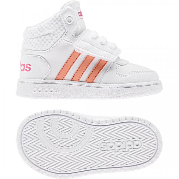 ADIDAS INFANTS GIRLS HOOPS 2.0 MID SHOES EE6716