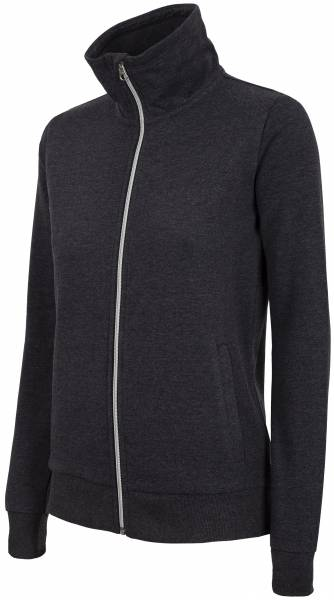 4F WOMEN CLOTHING ZIP SWEATSHIRT BLD002 BLACK