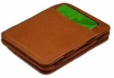 HUNTERSON LEATHER RFID MAGIC COIN WALLET COGNAC