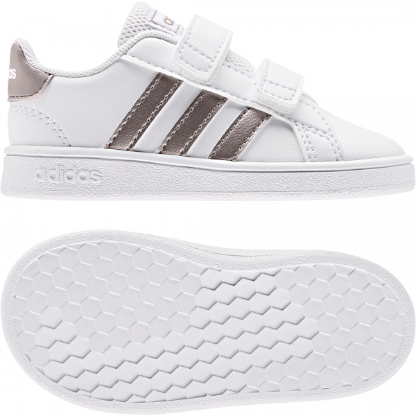ADIDAS INFANTS GIRLS GRAND COURT SHOES EF0116