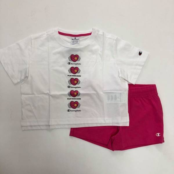 CHAMPION KIDS GIRLS CLOTHING SET TRACKSUIT 403870-WW006