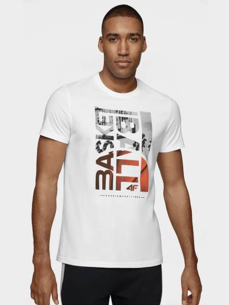 4F MEN CLOTHING T-SHIRT H4L20-TSM031-10S