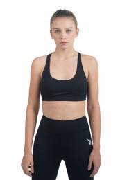 VEREN WOMEN CLOTHING BLACK SPORTS BRA