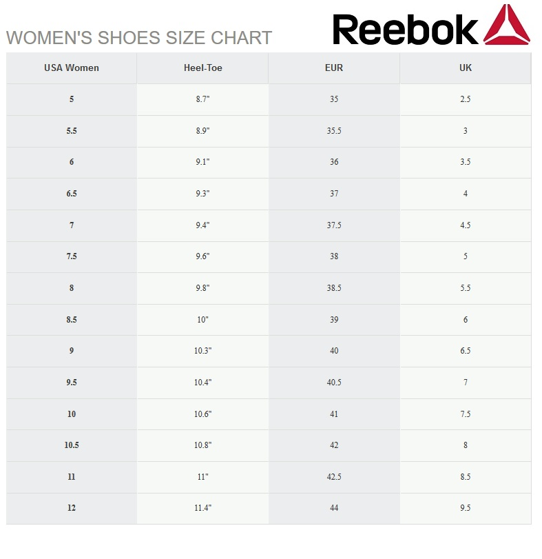 hostilidad enviar Ideal  reebok shoe size guide - 57% remise - www.ak-hel.com
